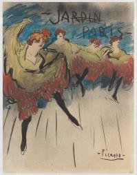 Jardin de Paris (Design for a Poster) Pablo Picasso (Spanish, Malaga 1881–1973 Mougins, France) Date: 1901