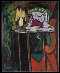 Reading at a Table Pablo Picasso (Spanish, Malaga 1881–1973 Mougins, France) Date: 1934
