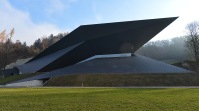 The new Festival Hall in Erl , Austria, 2012. Architects: Delugan Meissl Associated Architects.