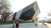 The Eli and Edythe Broad Art Museum, Michigan State University, 2012. Architect: Zaha Hadid