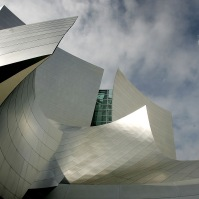 The Walt Disney Concert Hall, Los Angeles, 2003. Architect: Frank Gehry.