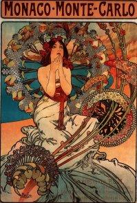 Poster for 'Monaco - Monte Carlo', P.L.M. railway services (1897)
