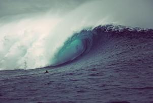 Ramon Navarro from Chile goes deep into the barrel at Cloudbreak, Fiji.