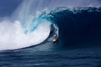 Makua Rothman, a big wave surfer from Hawaii at Cloudbreak, Fiji.