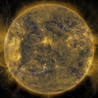 The underlying magnetic structure of the Sun and how it appears above its surface can be revealed by combining different solar images taken at almost the same time, on June 7, 2013.