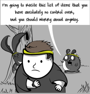 I run to seek avoid