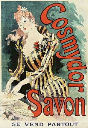Cosmydor Savon soap, France, 1891. Artist: Jules Chéret (France, Paris, 1836-1932)