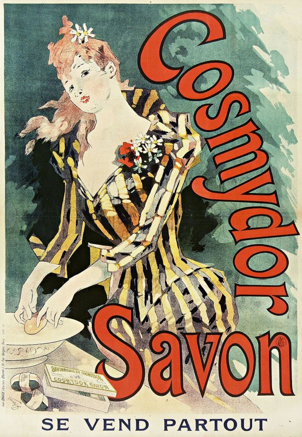 Cosmydor Savon soap, France, 1891. Artist: Jules Chéret (France, Paris, 1836-1932)