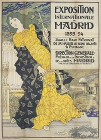 Madrid Expo, 1893. Artist: Eugène Samuel Grasset.