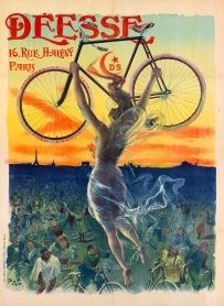 Déesse bicycle, Paris, c1890. Artist: Jean de Paleologue.