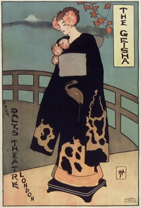 The Geisha from Daly's Theatre London, Belfast, 1895. Artist unknown.