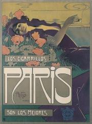 Cigarrillos Paris, 1901. Artist: Aleardo Villa.