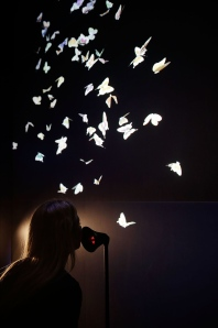 Vavara + Mar's enchanting exhibit Wishing Wall, also part of Google's DevArt, turns whispered wishes into digital butterflies.