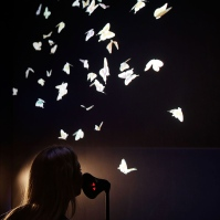 Vavara + Mar's enchanting exhibit Wishing Wall, also part of Google's DevArt, turns whispered wishes into digital butterflies.