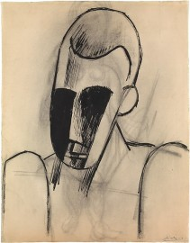 Head of a Man Pablo Picasso Date: Paris, late 1908 Medium: Ink and charcoal on white laid paper